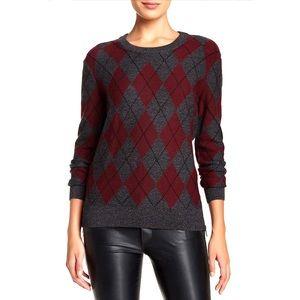 Haute Hippie Argyle merino wool sweater